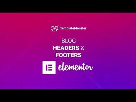 Blog header for wordpress