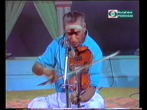 Hari varAsanam-Violin Mastero Kunnakudi Vaidyanathan
