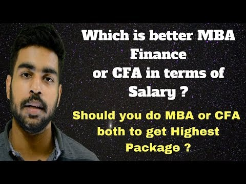 MBA vs CFA in INDIA | MBA or CFA | CFA after MBA | MBA vs CFA | MBA vs CFA hindi