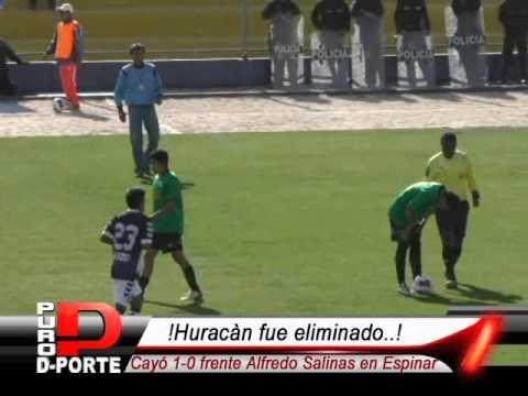 Alfredo Salinas elimino al Sportivo Huracán al ganarle 1-0