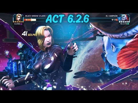 Black Widow Claire Voyant Vs The Champion Act 6.2.6 - Marvel Contest Of Champions