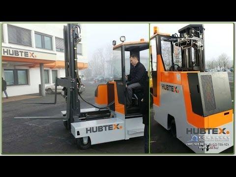 Тестируем новый универсальный электропогрузчик с многосторонним движением HUBTEX DQ 30E