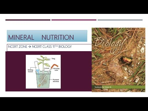 L1 | mineral nutrition | methods of study mineral requirements of plants| biology |