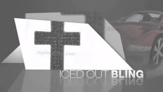 Black Triple Bling Bling Cross & Chain Small