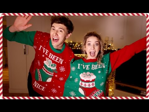 The Double Jumper Challenge with Mark | Zoella