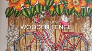 Blomster Mandala - How to color wooden fence