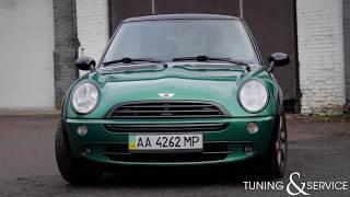 Перекраска автомобиля MINI в зеленый цвет, полная покраска авто в Киеве!