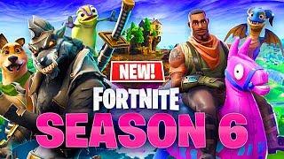 *NEW* Fortnite Season 6 Gameplay - New Map, Skins & Pets!
