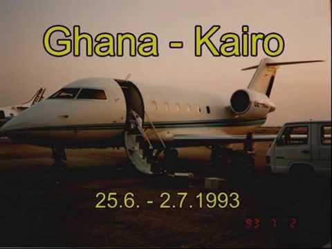 Flug nach Ghana mit CL-601 (Viennair 1993)