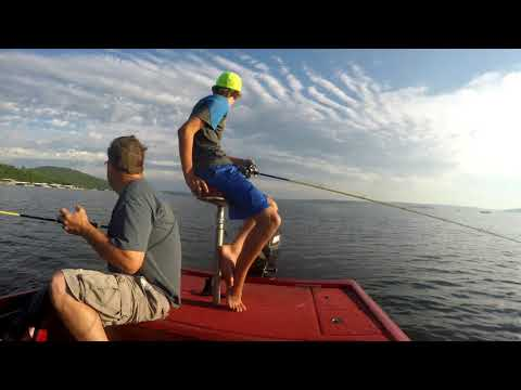 Jigging For Stripers On Lake Norfork
