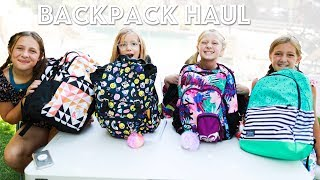 Backpacks Haul - What's Inside Our Backpacks for Back to School Shopping