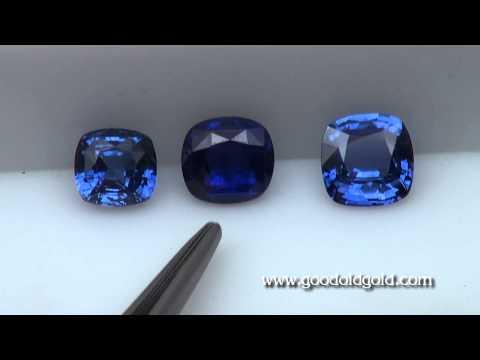 Comparing Three 3ct Blue Sapphire