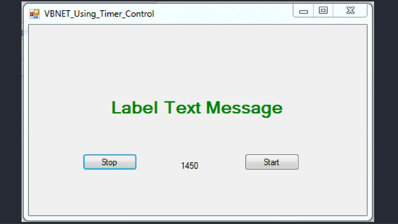 VB NET Tutorial - How To Use Timer Control In Visual Basic Net [ with  source code ]