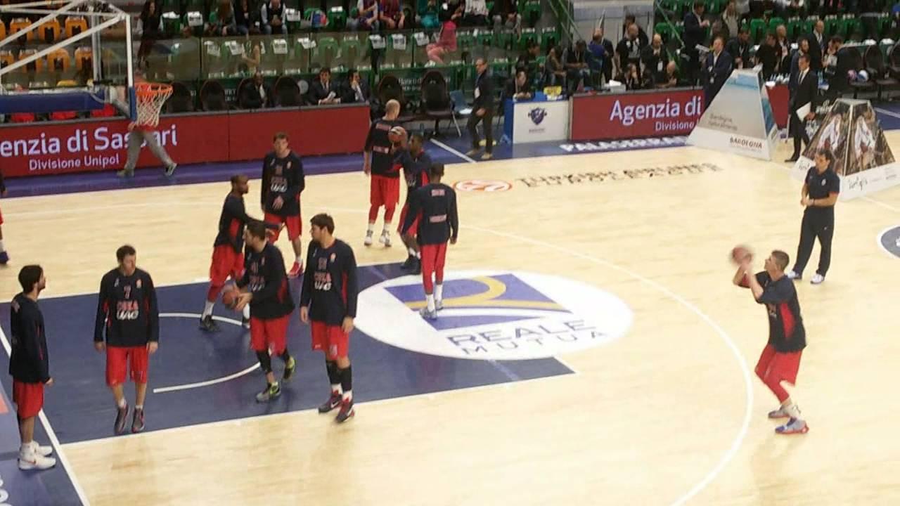 Dinamo Banco di Sardegna-CSKA Mosca 78-107 Euroleague 2015-2016 Warming