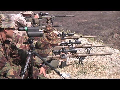 U.S. Marine Scout Snipers Sharpen Their Marksmanship Skills