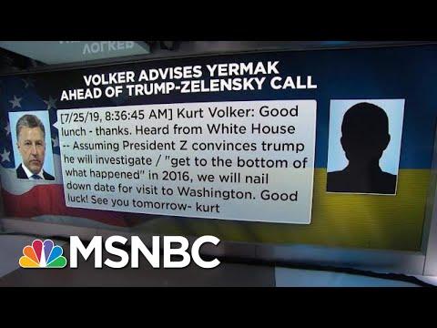 Text Messages Detail Trump Administration's Pressure On Ukraine   Velshi & Ruhle   MSNBC
