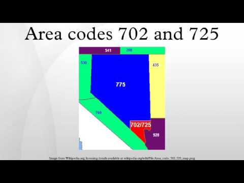 Area codes 702 and 725