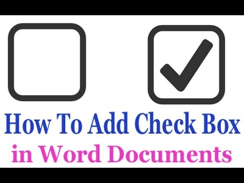 How To Insert Checkbox To Microsoft Word Youtube