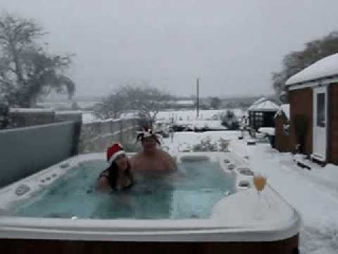snow fun in the hot tub youtube. Black Bedroom Furniture Sets. Home Design Ideas