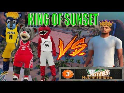 BEATING LEGEND 5 MASCOT & LEGEND 4 | King Of Sunset | NBA 2K16 MY PARK