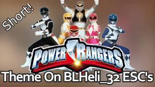 Power Rangers Theme [SHORT] on BLHeli_32 ESC's - Startup music
