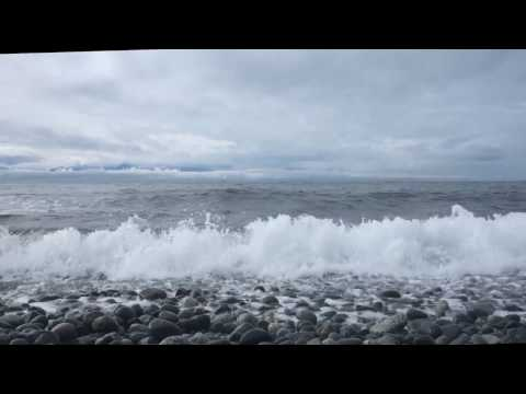 Relaxing Sounds of Ocean Waves Crashing and Waves Receding over Rocks (1Hr) Study, White Noise