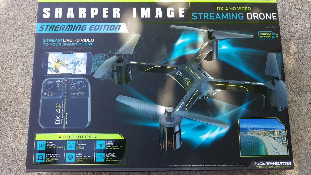 Flying The Sharper Image Dx 4 Hd Video Streaming Drone Youtube