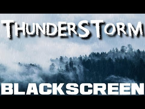 Gentle Thunderstorm Black Screen Sleep Study Relax with Rain and Thunder Sounds by DreamWorld