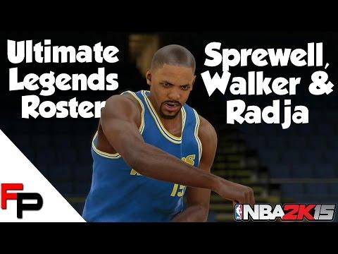 NBA 2K15 - Latrell Sprewell, Antoine Walker & Dino Radja - Ultimate Legends Roster #46