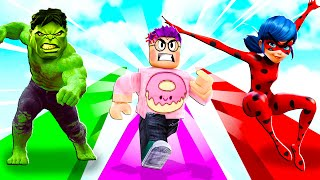 Can We Beat This ROBLOX RAGE RUNNER GAME?! (JUSTIN SCREAMED!)