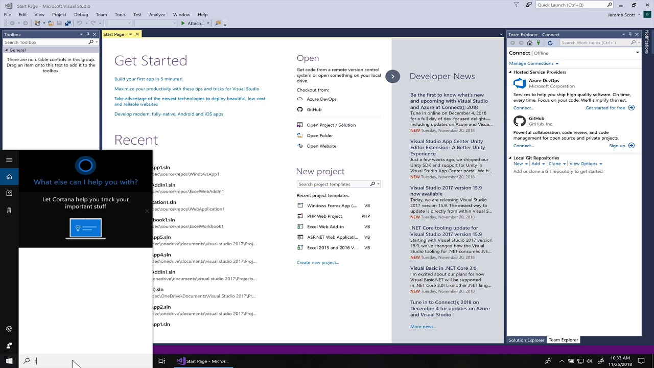 Restart PHP Tools for visual studio trial on windows 10