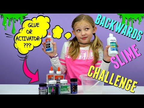 Making slime backwards satisfying reverse slime making challenge today we are trying to make slime backwards it is a total experiment and we have no idea if we will succeed or fail what do you think ccuart