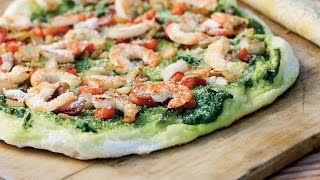 Shrimp-Pesto Pizza  Southern Living