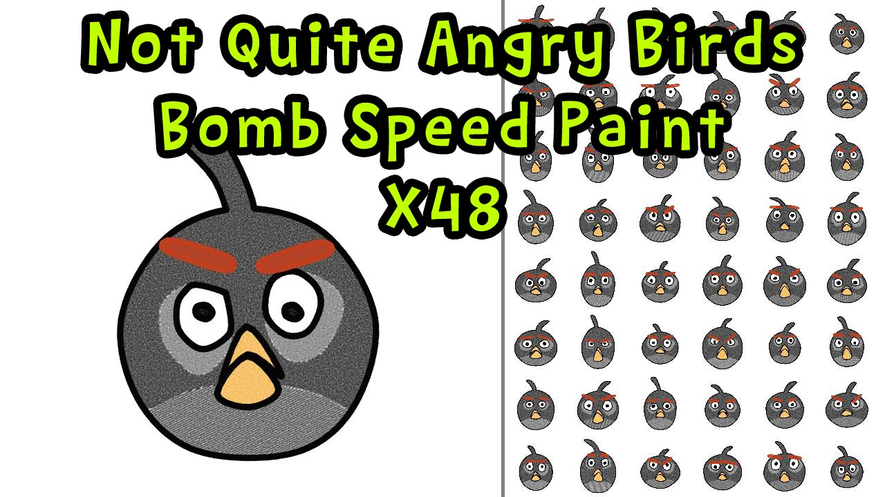 Not Quite Angry Birds - Bomb - Speed Paint x48 | GoLectures
