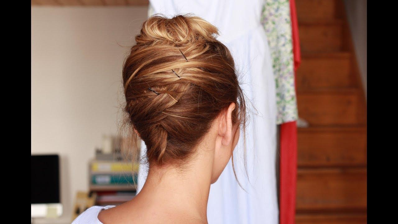 coiffure facile pour l'été : nuque dégagée et chignon haut ✨ marion blush