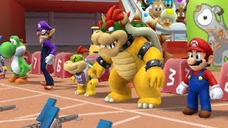 Mario & Sonic at the London 2012 Olympic Games - 110 Meter Hurdles (All Characters)