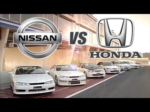 [ENG CC] Honda vs. Nissan - Integra R, Civic R, Silvia S14, Pulsar Tsukuba 1998