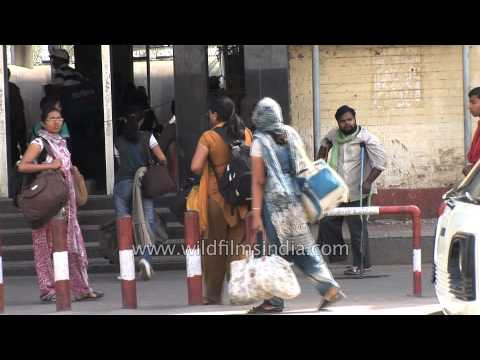 Passengers arrive at Jalandhar railway station