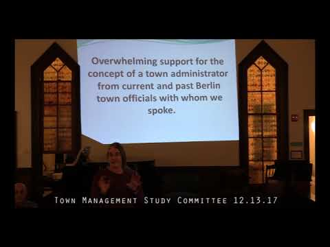 Town Management Study Committee 12.13.17