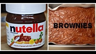 How To: Make Nutella Brownies!