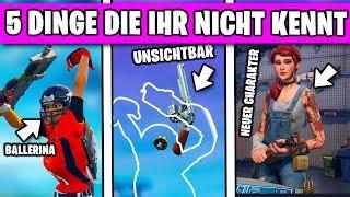 5 DINGE die ihr NICHT kennt in Fortnite 😱 | Deutsch German