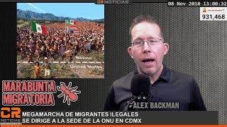 MIGRANTES MARCHAN A LA ONU - ILEGALES MATAN A AGENTE FRONTERIZO EN EMBOSCADA