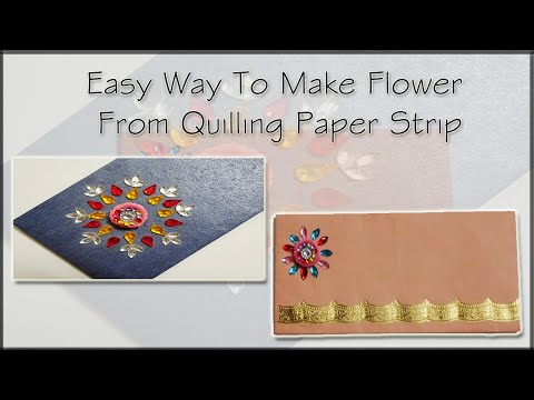 Easy Way To Make Flower From Quilling Paper Strip||Daily December|Day 7|2018||