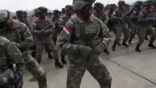 Batalyon Linud 328 Kostrad #Indonesian Army #soldier dance #Gangnam style