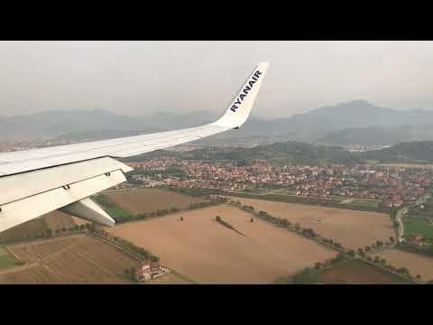 HEAVY LANDING RYANAIR - ATTERRAGGIO 🛬 ( 4K ) / canzone finale - song of landing
