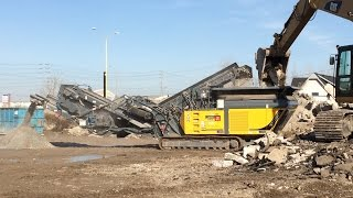 Video still for Concrete crusher - job-site with nasty material