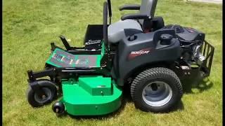 Bob Cat CRZ 52 inch Zero Turn Mowing Overgrown Grass