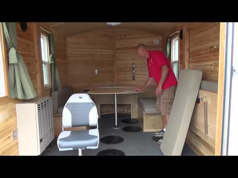 Beberg Outdoors 8x12 V Aluminum Skid House Customized Interior
