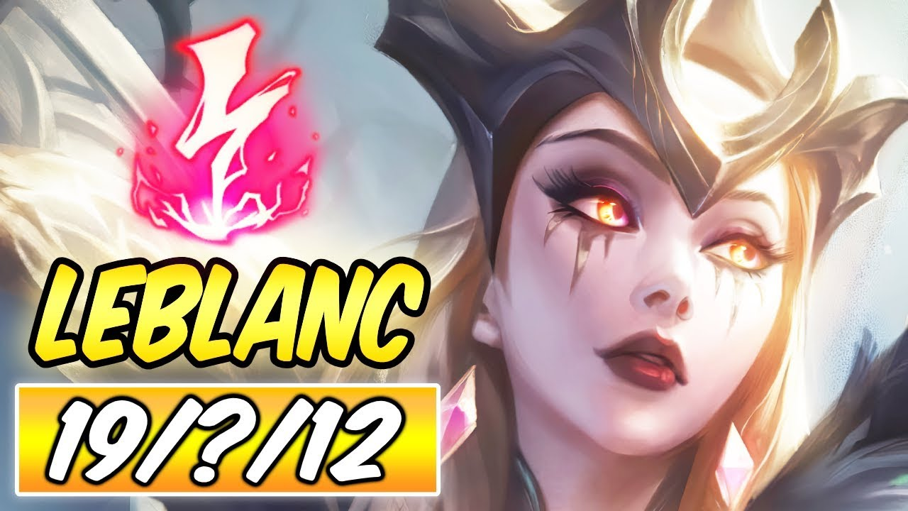 New Skin Coven Leblanc Mid Gameplay Build Runes Diamond Commentary League Of Legends S10 Youtube
