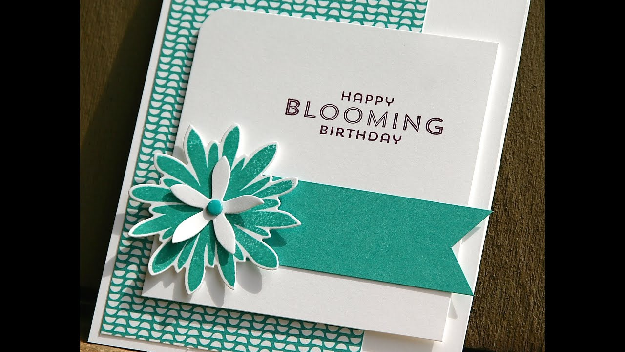 Stampin up birthday card using flower patch youtube bookmarktalkfo Gallery